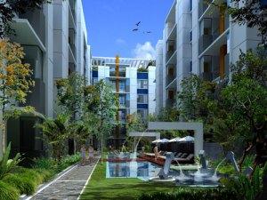3d kolam air apartemen